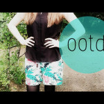 Outfit of the Day: Bunte Palmen-Shorts